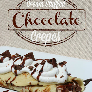 Chocolate Cream Stuffed Crepes
