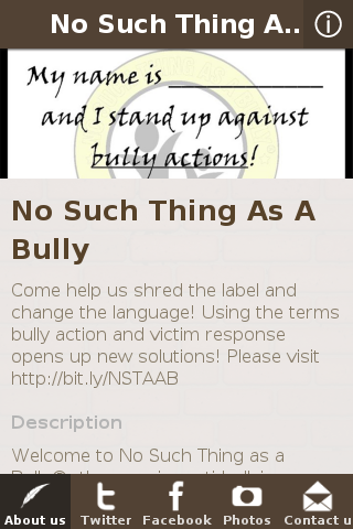 No Such Thing as a Bully