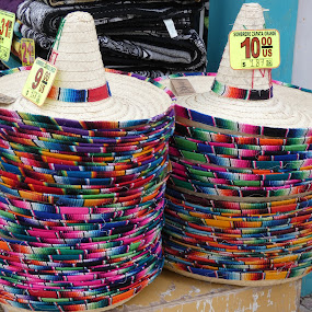 Sombrero at the double by Judy Boyle - Uncategorized All Uncategorized ( double. hats. colour. mexico,  )