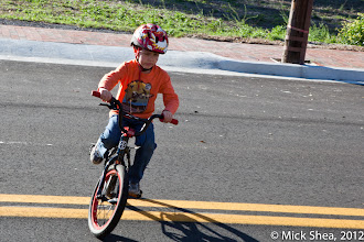 Photo: the youngest rider at the end of the ride
