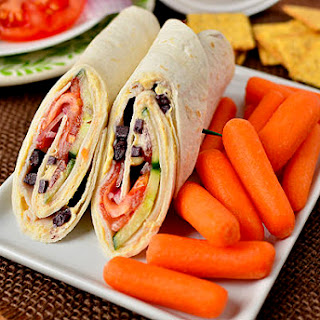 Mediterranean Turkey Wrap.