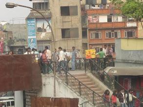 Photo: Safe City Nepal reclaimed a pedestrian bridge. 4.7.13