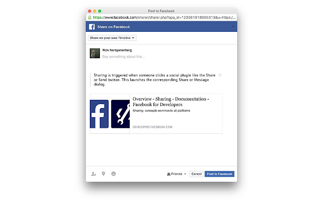 Share to Facebook - Chrome Web Store