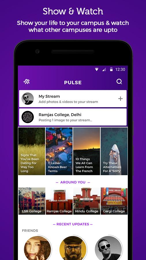 Pulse - Campus Streams- screenshot