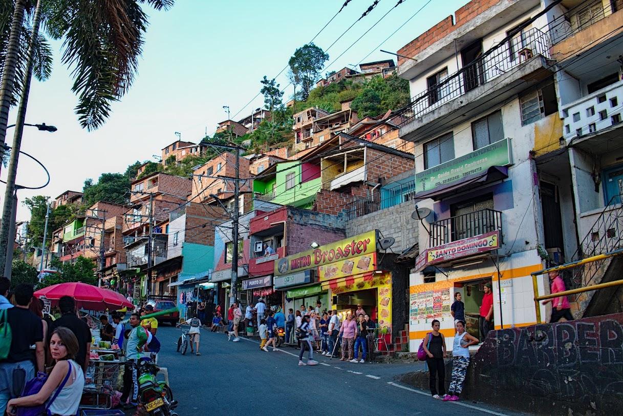 Medellin, Kolumbia ulice