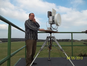 Photo: Michal OK1VM má na vysílání omezený čas