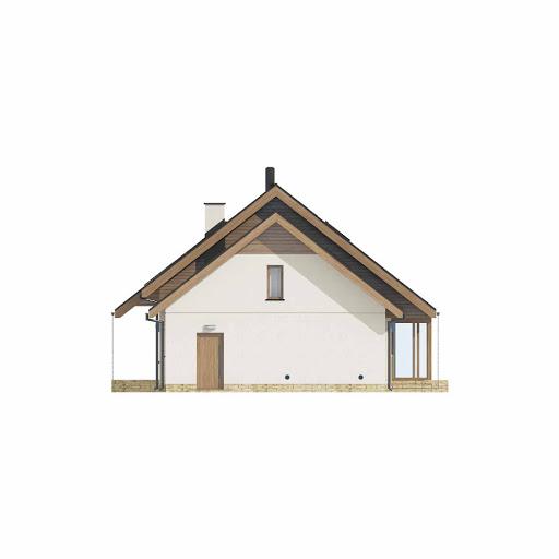D186 - wersja drewniana - Elewacja lewa