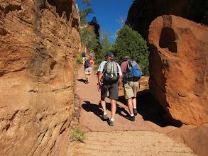 Photo: Entering Refrigerator Canyon - the temps drop to a delicious cool...