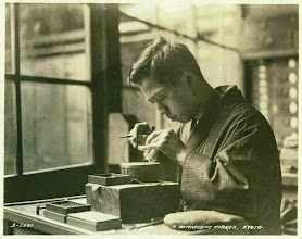 Photo: A damascene worker, Kyoto 1926 Image was supposedly taken during a world wide tour of the cruise ship S.S. RESOLUTE in 1926 I have two of these in my collection.