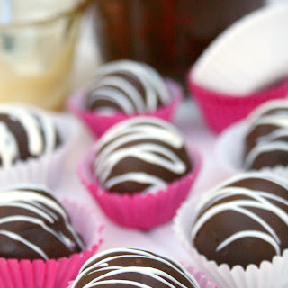 Dark Chocolate Raspberry Truffles.