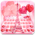 Red Love Eiffel Tower Theme icon