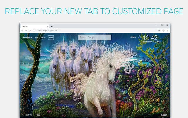 Unicorn Wallpapers HD Custom Unicorns New Tab
