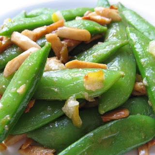 Snap Peas & Almonds In Brown Butter.