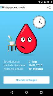 Blutspendeausweis Screenshot