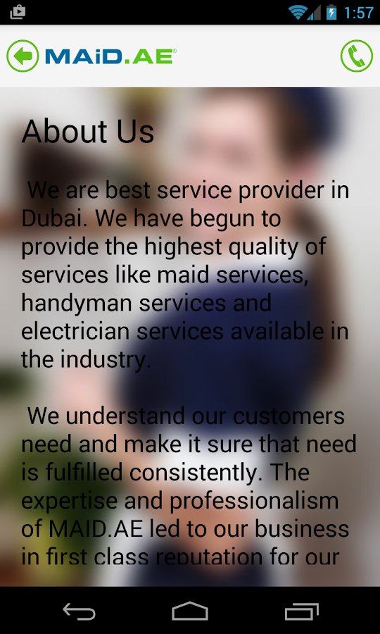 Maid Service in Dubai- screenshot