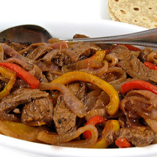 Skinny Steak Fajitas