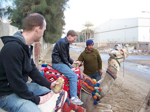 Photo: Yeah, another camel ride!  You see the guy in the foreground?  His camel was mean to me - he tried to eat my foot.