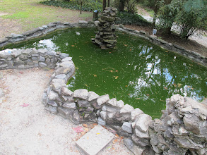 Photo: The fish pond was built in the shape of our very own Lake Tawasi!