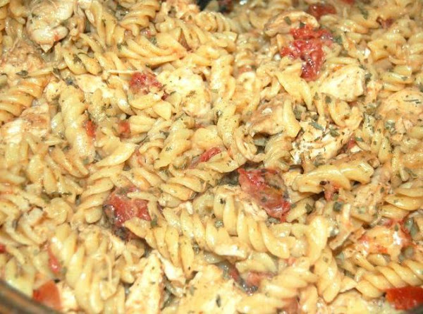 Chicken Alfredo With Diced Tomatoes Dish Recipe