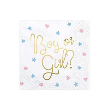 Servetter - Boy or Girl guld