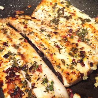 Pan-Seared Mahi Mahi w Lemon, Garlic & Thyme (Healthy & Diabetic-Friendly Recipe #10).