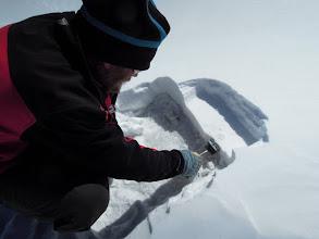 Photo: Snow sampling and analysis