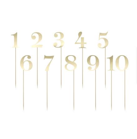 Bordsnummer - guld