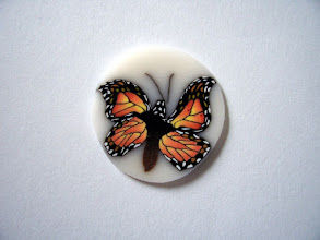 """Photo: Butterfly - 1, Colors: Orange, Brown, White, Black and more mixed multicolored butterfly. Vary detailed. $6.00 per inch long with a diameter of 1/2"""" inch, $12.50 per inch long with a diameter of 3/4"""" and $22.00 per inch long with a diameter of 1"""" around."""