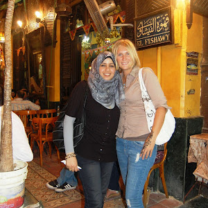 Expat woman in Cairo with her friend in Hijab