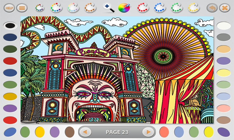 Intricate Coloring 2: More- screenshot