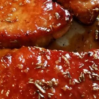 Pork Chops with Apple Cider Glaze.