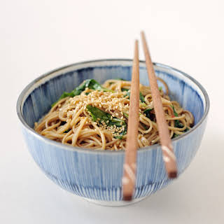 Spicy Soba Noodles With Wilted Watercress.