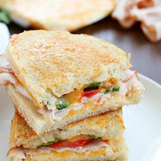 Southwestern Crispy Grilled Turkey and Cheese Sandwiches with Chipotle Mayo.