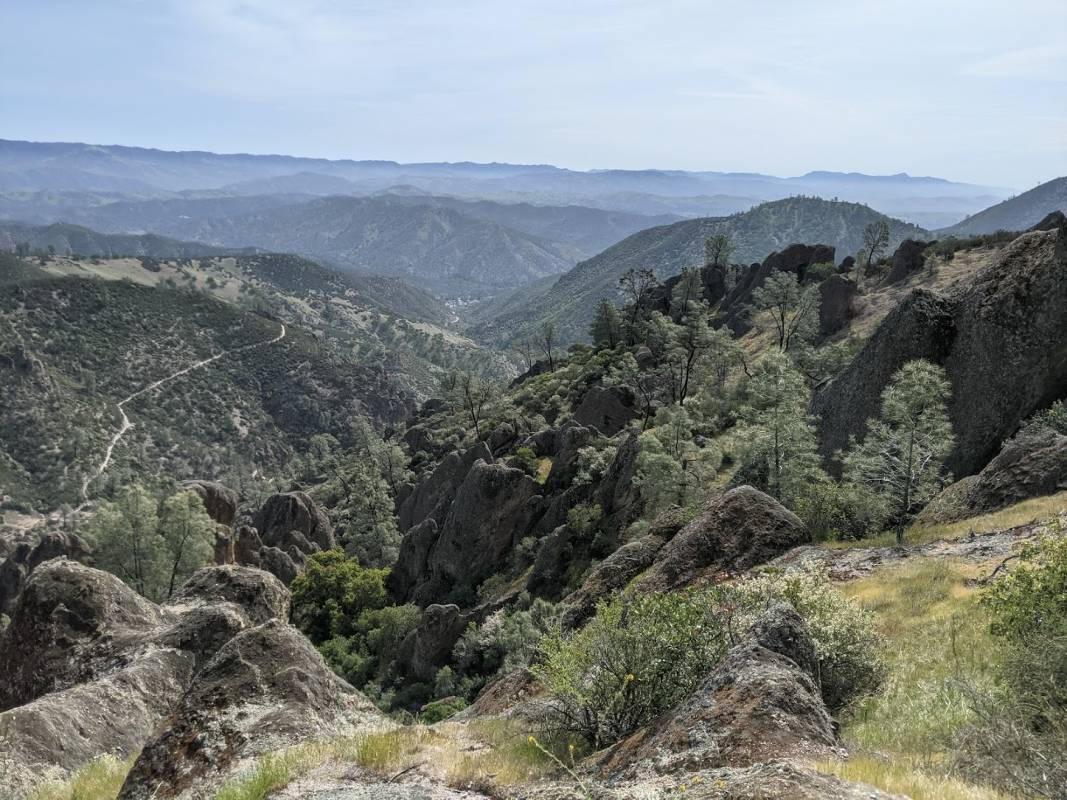 Expansive valleys in one of several California national parks, Pinnacles