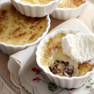 Rum, Raisin and Chocolate Chip Rice Puddings.