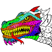 Dragons Color by Number - Animals Coloring Book