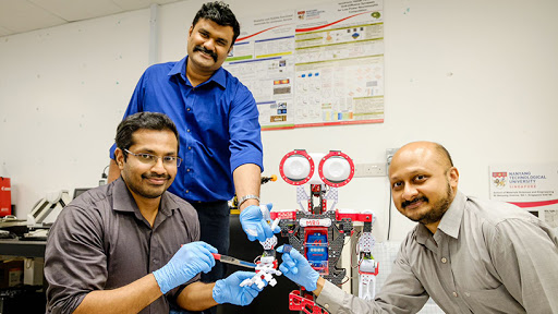 Members of the NTU research team include associate professor Nripan Mathews, research fellow Rohit Abraham John and associate professor Arindam Basu.