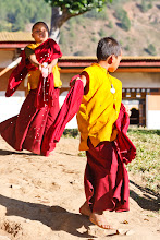 Photo: Young monks at play