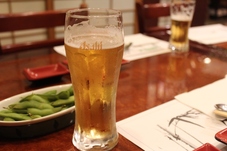 Glass of beer at ichiban fish house