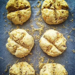 Cheddar & Bacon Irish Soda Bread Rolls