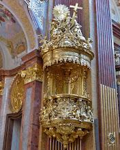 Photo: Kloster Melk: Siftskirche St. Petrus und Paulus: Kanzel