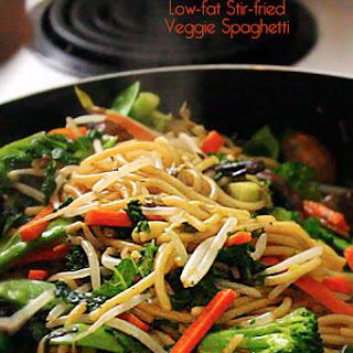 Stir-Fried Vegetable Spaghetti | Vegan/Vegetarian Recipe