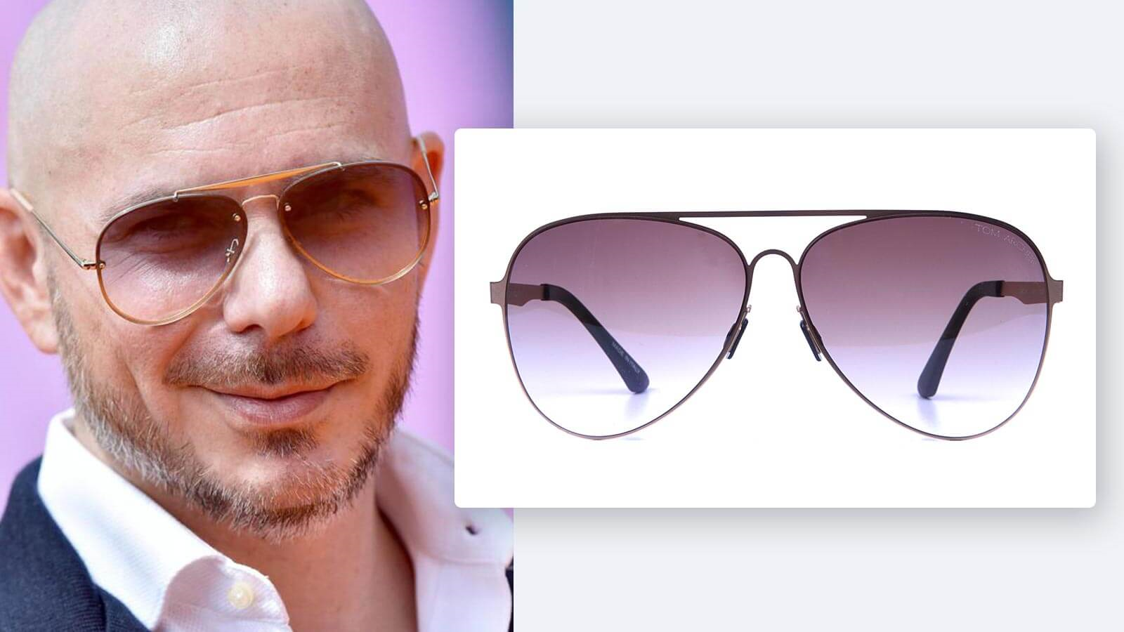 A bald what head suit glasses What kind