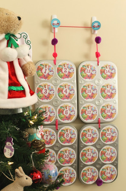 Make my easy-peasy DIY Shopkins Advent Calendar for your little Shopkins fans! It's the perfect way to count down to Christmas. Includes tutorial & free templates, plus a secret to make it resuable year after year