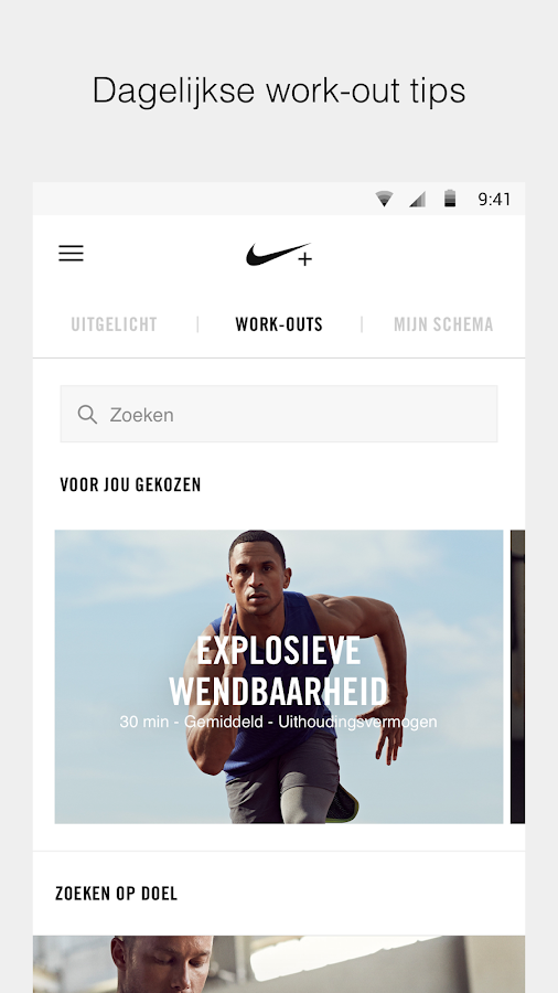 Nike+ Training Club – Work-outs & fitnessschema's: screenshot