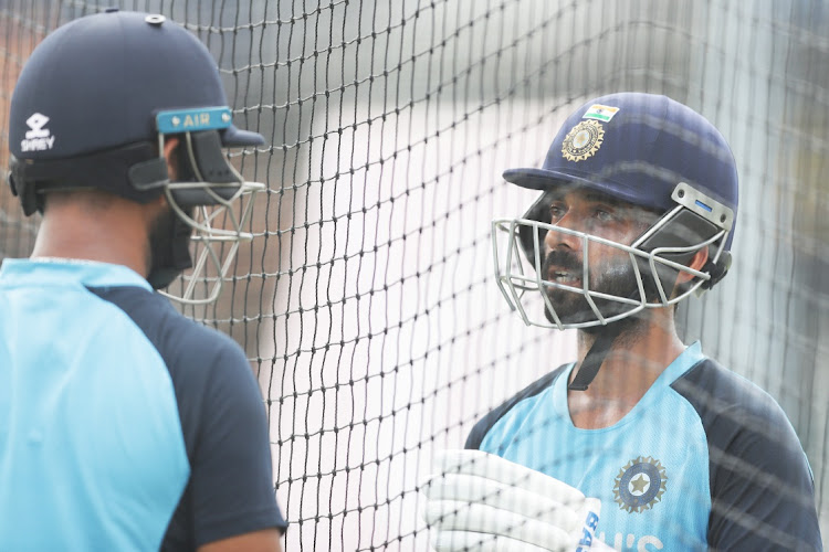 Ajinkya Rahane of India taks to Cheteshwar Pujara of India as they bat during the India nets session at the Sydney Cricket Ground in Sydney, Australia, January 5 2021. Picture: MARK METCALFE/GETTY IMAGES