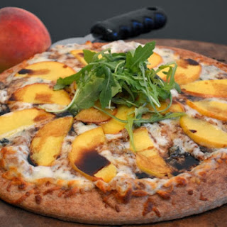 Peach and Gorgonzola Pizza