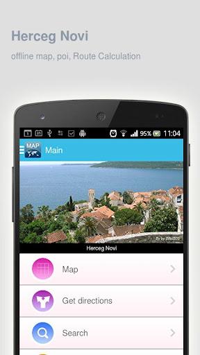 Herceg Novi Map offline