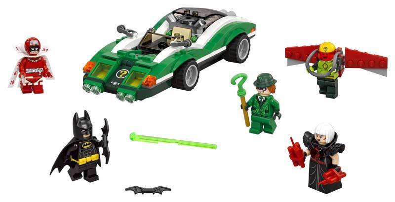 Contenido de Lego® 70903 Coche Misterioso de The Riddler™