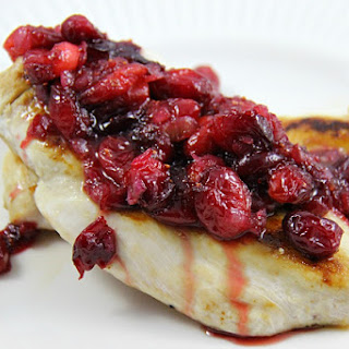 Pan Roasted Chicken with Cranberry Compote